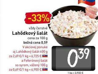 Lahôdkový šalát 100 g