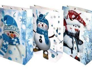 Taška na darčeky Vianočná papierová so stuhou L Quickpack 1ks