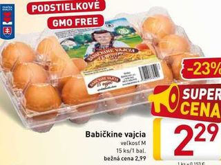 Babičkine vajcia  15 ks