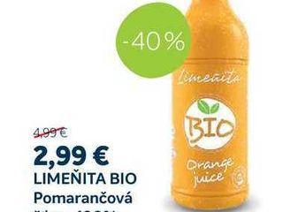 Obrázok LIMEŇITA BIO Pomarančová šťava 100% 1l
