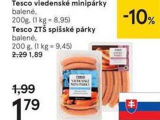 Tesco viedenské minipárky, 200 g