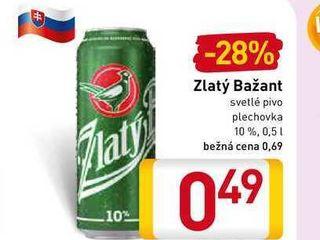 Zlatý Bažant 10% svetlé výčapné pivo 500 ml 0.5l