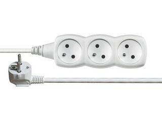 Emos Predlžovací kábel 3 zásuvky 1,5 m biely