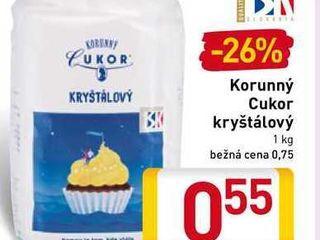 Korunný cukor kryštálový 1 kg