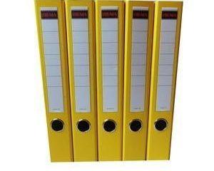 Šanón/zakladač A4/5cm pákový žltý SIGMA 5ks