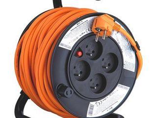 Emos PVC predlžovací kábel na bubne 4 zásuvky 25 m