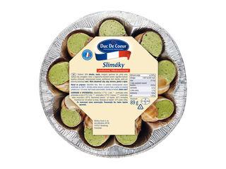 Slimáky s bylinkovým maslom