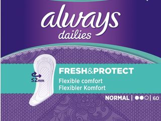 Obrázok Always liner normal dámske vložky 1x60 ks