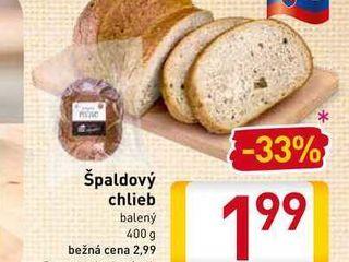 Špaldový chlieb  400 g
