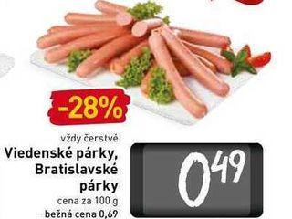 Viedenské párky, Bratislavské párky100 g