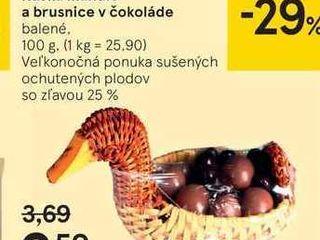 Kačka mandle a brusnice v čokoláde, 100 g