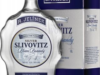 Slivovitz Kosher Silver budík 50% 0,70 L