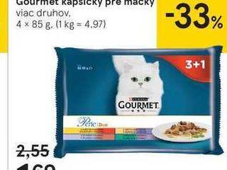 Gourmet kapsičky pre mačky, 4 x 85 g