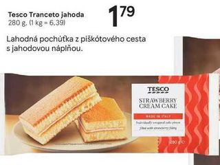 Tesco Tranceto jahoda, 280 g