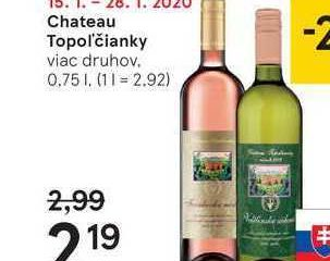 Chateau Topol'čianky, 0,75 l