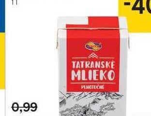 Mlieko trvanlivé plnotučné 3,5 %, 1 l