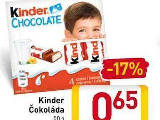 Obrázok Kinder Čokoláda 50 g