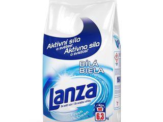 Lanza Fresh&Clean Biela prací prášok 90 praní 1x6,3 kg