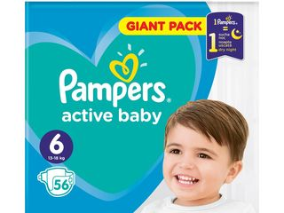 Pampers active baby S6 giant pack detské plienky 1x56 ks