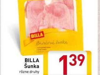 Obrázok  BILLA Šunka rôzne druhy 100 g