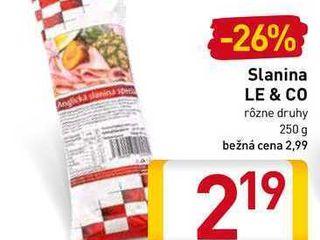 Le & Co slanina 250 g