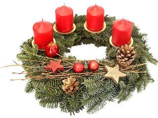 obrázek Adventní věnec 4 svíčky Nobilis