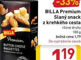 BILLA Premium Slaný snack z krehkého cesta  100 g