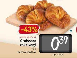 Croissant zakrivený  82 g
