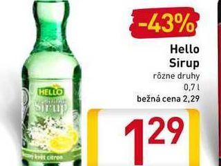 Hello Sirup 0,7 l