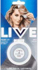 Obrázok Zmývateľná krieda na vlasy Live Paint It! chladná sivá, 1 ks