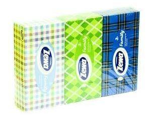 Obrázok Zewa vreckovky soft&strong box 3-vrstvové 3x90 ks