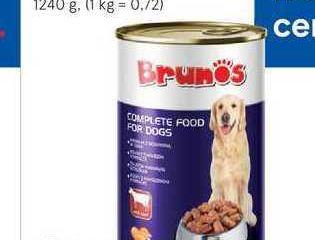Obrázok Brunos konzerva pre psy, 1240 g