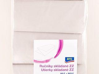 ARO Utierky jednovrstvové ZZ biele 5x250 ks
