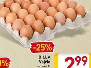 Billa Vajcia M 30 ks