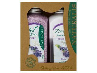 Kazeta Naturalis Body&Spirit Lavender Bath soľ+ olej 1x1ks