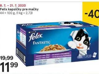 Felix kapsičky pre mačky, 44 x 100 g