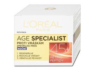 L'Oréal Age Specialist nočný krém proti vráskam 45+ 1x50 ml