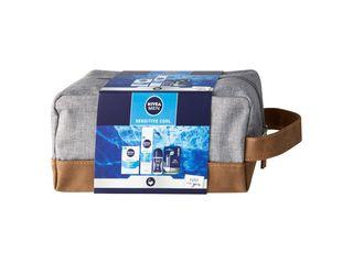 Nivea Men Sensitive Cool gél na hol. + balzam po hol.+ antipers.+ balzam + taška