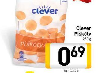 Obrázok  Clever Piškóty  250 g