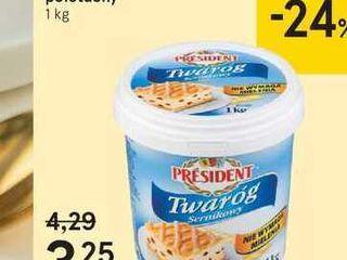 President tvaroh polotučný, 1 kg