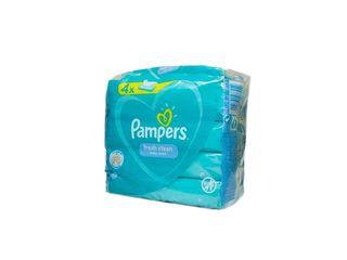 Pampers Fresh Clean vlhčené obrúsky 4x52 ks