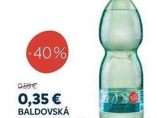 BALDOVSKÁ Prírodná minerálna voda neochutená 1,5 l + 0,5 l zadarmo