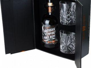 Obrázok Austrian Empire Navy Rum Solera 18YO 40% 0,70 L + 2 poháre