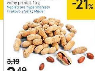 Arašidy nelúpané pražené, 1 kg