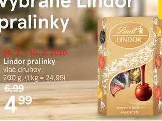 Lindor pralinky, 200 g