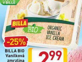 Obrázok   BILLA BIO Vanilková zmrzlina 1000 ml