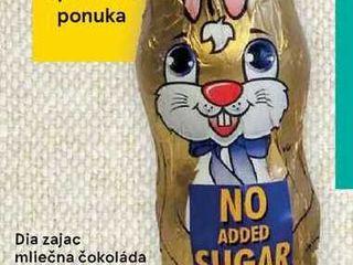 Obrázok Dia zajac mliečná čokoláda, 25 g
