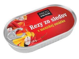 Obrázok Rezy zo sleďov v mexickej omáčke 170 g