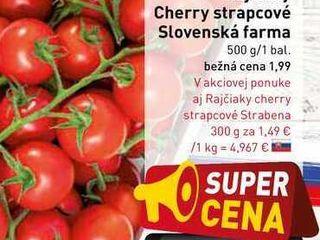 Obrázok Rajčiaky Cherry strapcové Slovenská farma 500 g