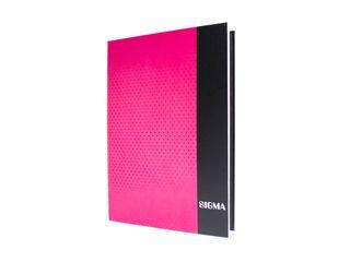 Záznamová kniha linajková A4 80 listov ružová Sigma 1 ks